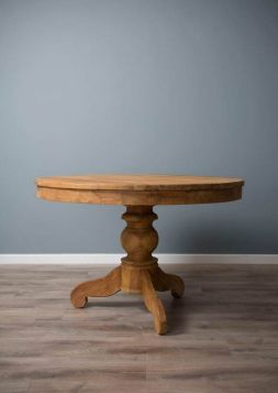 1.2m Reclaimed Teak Circular Pedestal Dining Table