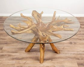 1.5m Reclaimed Teak Root Circular Dining Table