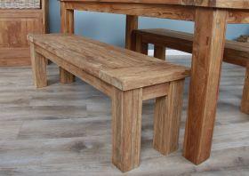 1.5m Reclaimed Teak Taplock Dining Bench