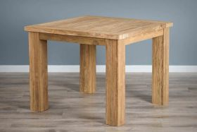 1m Reclaimed Teak Square Taplock Dining Table