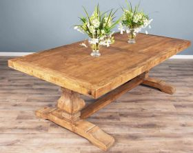 2.4m Reclaimed Elm Pedestal Table