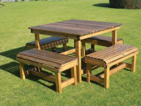 Orchard 1.15m Square Table with 4 Seats