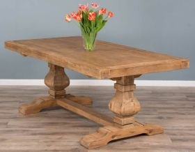 2m Reclaimed Elm Pedestal Dining Table