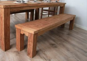 2m Reclaimed Teak Taplock Dining Bench