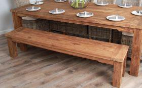 2.4m Reclaimed Teak Taplock Dining Bench