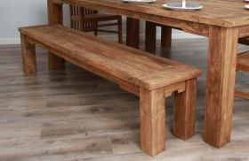 3m Reclaimed Teak Taplock Dining Bench