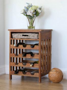 Reclaimed Teak Wine Rack
