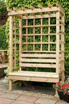 Swedish Redwood Garden Arbour Seat