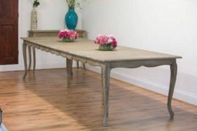 American Oak Grey Wash Extending Dining Table
