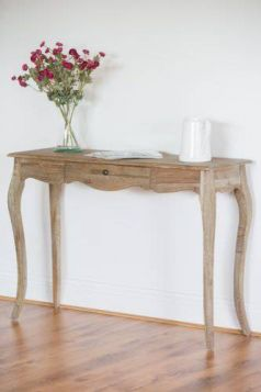 American Oak Grey Wash Hall Table