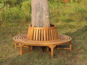 2.2m Teak Round Tree Seat