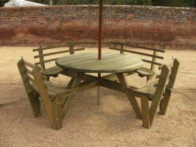 Disabled Access Circular Picnic Bench