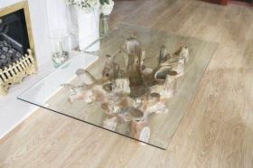 1.2m Reclaimed Teak Root Rectangular or Oval Coffee Table