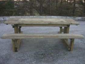 Disabled Access Picnic Bench with Hidden Sandpit
