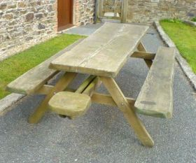 Whole Tree Picnic Bench