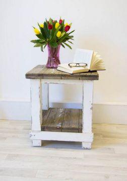 50cm Reclaimed Pine Coastal Coffee Table