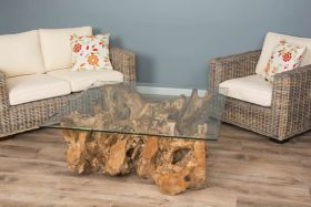 1.2m Square Root Coffee Table