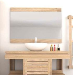 Oasis Contemporary Teak Mirror