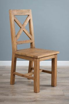 Reclaimed Elm Cross Back Dining Chair
