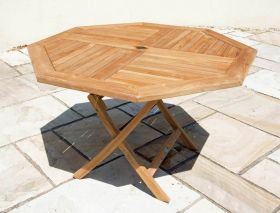 1.2m Teak Octagonal Folding Table