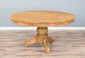 1.5m Reclaimed Teak Circular Pedestal Dining Table