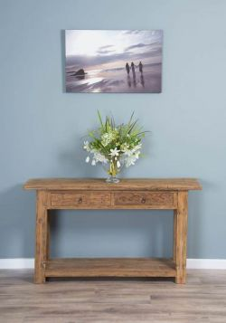 140cm Reclaimed Teak Console/Hall Table