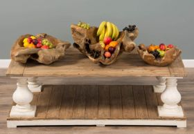 Reclaimed Teak Root Fruit Bowl