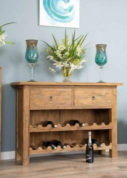 Reclaimed Teak Rustic Wine Rack Cabinet