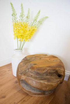 Teak Root Ball Stool / Display Stand - Circular