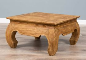 60cm Rustic Reclaimed Teak Opium Coffee Table