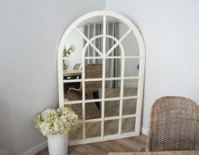 Shabby Chic Arch Window Mirror