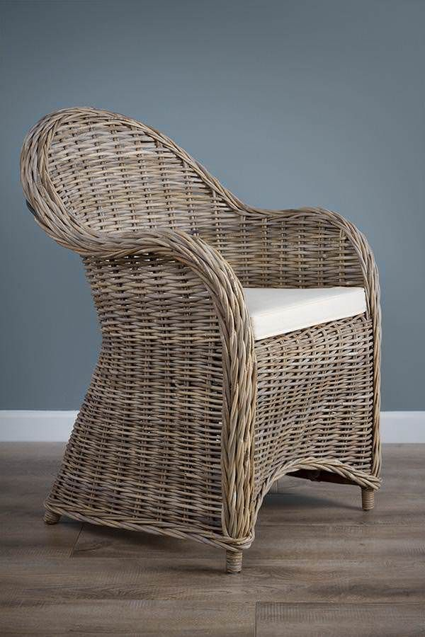 Natural Wicker Riviera Chair Kubu Grey Sustainable Furniture