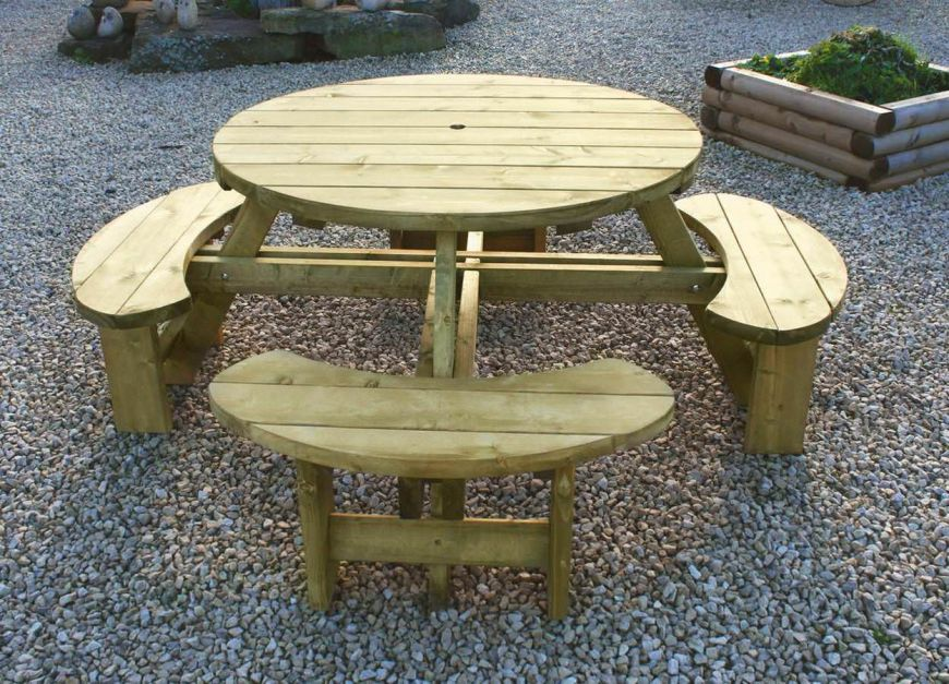 Tanalised Round Picnic Table Sustainable Furniture