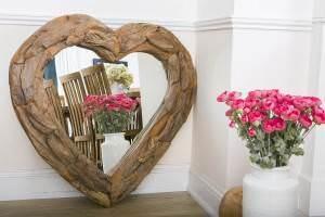 Teak root heart mirror (4)