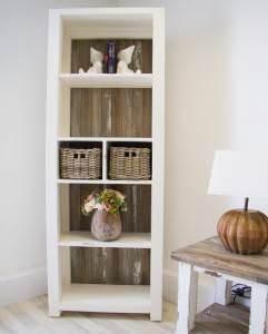 DIJ-BK-CST Reclaimed Pine Grey Wash Coastal Bookcase (1 of 9)